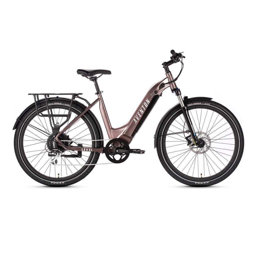 Aventon.Level.Commuter.Ebike.Step.Through.Rose.Gold.Side.View_2000x